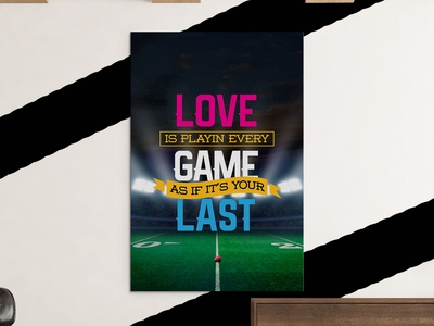 Love Game Field Canvas