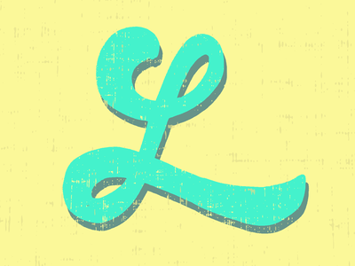 Fun & Colorful L design illustration lettering art digital lettering brush lettering lettering artist lettering daily lettering challenge lettering