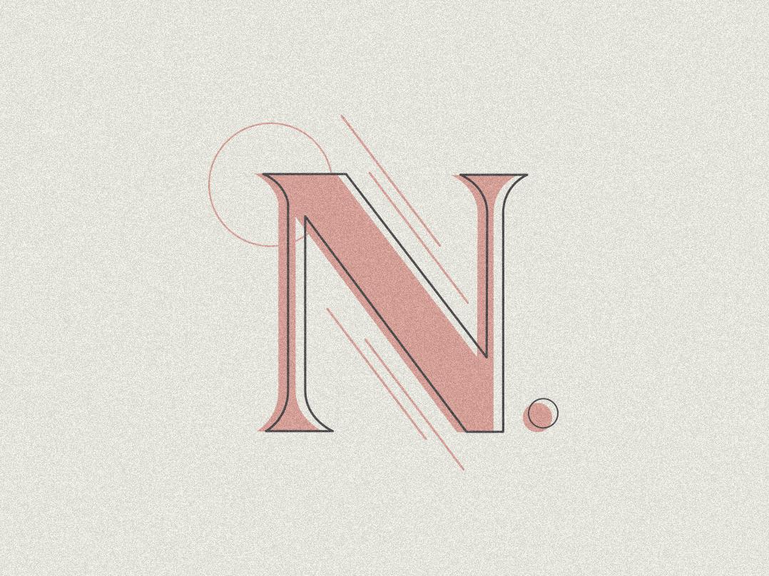 Letter Exploration - N typography illustration lettering lettering challenge logo lettering daily lettering artist lettering art digital lettering design