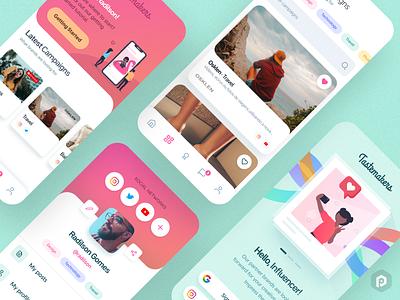Tastemakers App Concept #3 😎 product design product colorful pastel colors instagram influencer pastel ui uiux ux brazil pixeldrops design app