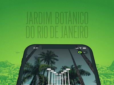 Jardim Botânico do Rio de Janeiro App #2 brazil rio de janeiro mobile app ux uiux ui garden botanical