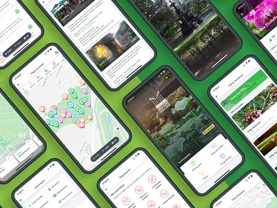 Jardim Botânico do Rio de Janeiro App #3 nature marker map garden botanical rio de janeiro ux uiux pixeldrops design brazil app mobile ui