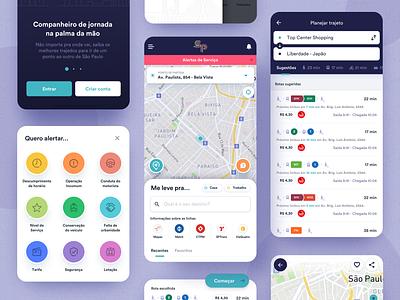 Conecta SP - Transportation App Concept transportation design sao paulo bus metro subway transportation transport ux app pixeldrops design brazil mobile ui