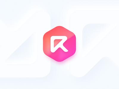 Just having fun with my logo! blur gradient neumorphism macos big sur icon branding logo