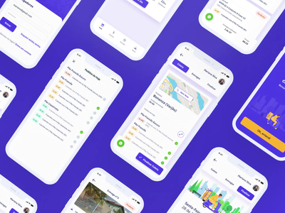 Hobz Delivery - Courier App 🥖 uiux brazil mobile app app delivery courier mobile ui