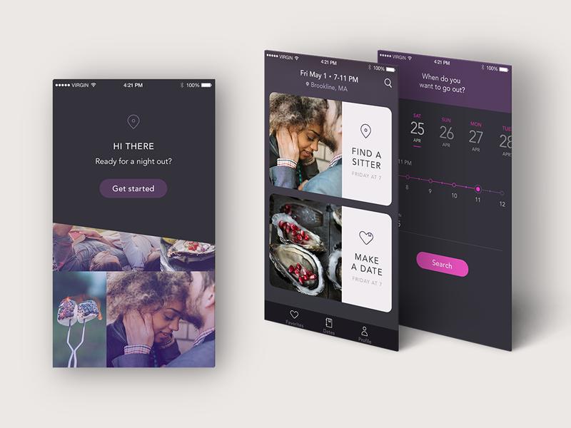 DateNight design parents romance mobile date ios