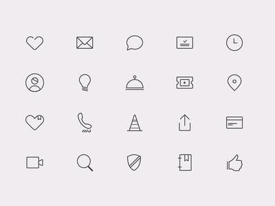 Datenight Icons app love modern icons date
