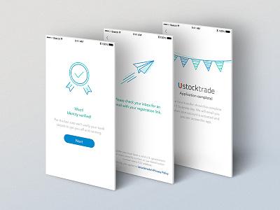Ustocktrade Enrollment registration enrollment ios mobile stocks finance illustration