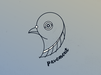 Pigeon Illustration city illustration coffee pavement pigeon