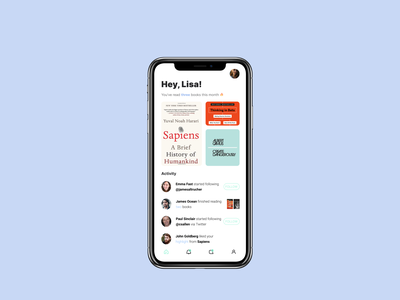 A goodreads alternative mobile ui books reading app app design ui