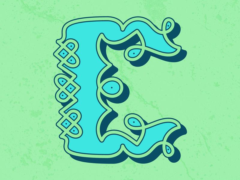 C—Celtic celtic illustration dropcap 36daysoftype-c lettering 36daysoftype