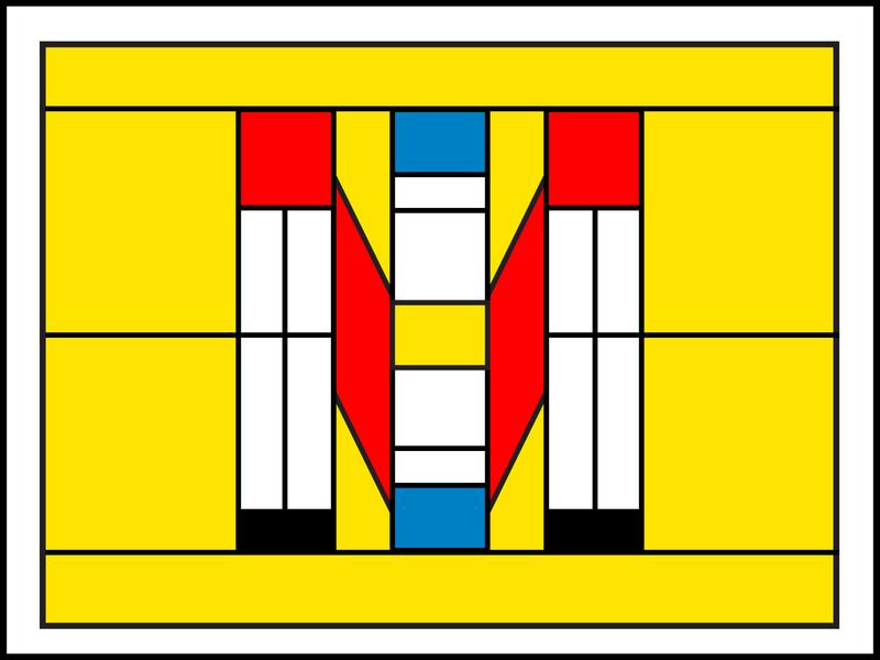 M—Modern m mondrian modernism design illustration dropcap lettering 36daysoftype