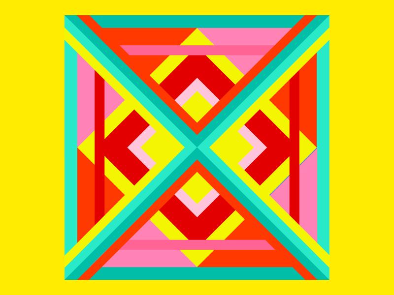 X—X-geometric geometric art x geometric illustration dropcap lettering 36daysoftype