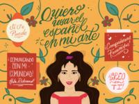 Aprendiendo Español spanish latina latinx illustration