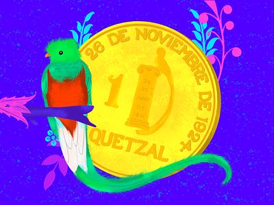 Q ~ ¿Quetzal o Quetzal?... ¿Que? quetzal q letter q 36days-q 36daysoftype08 illustration 36daysoftype