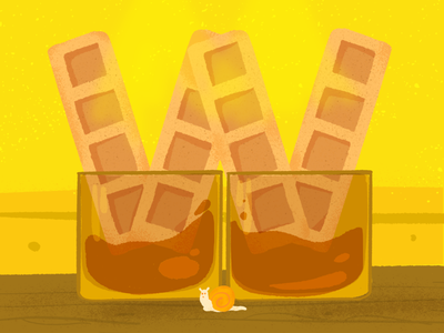 W ~ Los wafles en el whiskey w whisky waffles 36days-w 36daysoftype