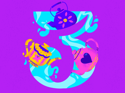 3 ~ Tres teteras tea teacup 36daysoftype08 3 36daysoftype