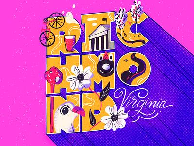 Richmond virginia rva richmond illustration lettering
