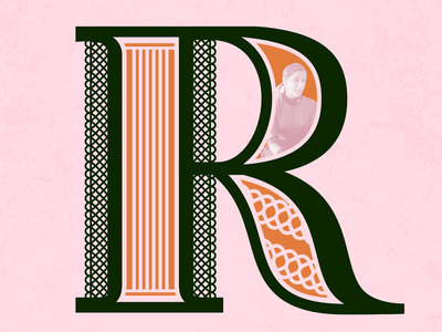 R ~ Ruth Bader Ginsburg supreme court ruth bader ginsburg r 36daysoftype-r dropcap women lettering fearless females 36daysoftype