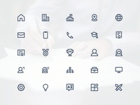 CV / Resume Icon Set