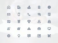 CV / Resume Icon Set