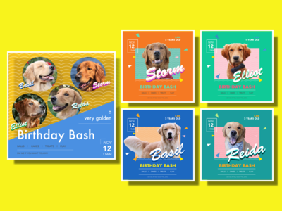 Dog party Poster