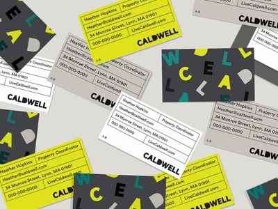Caldwell stationery design branding typography