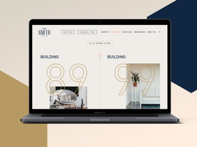 The Smith web design typography branding