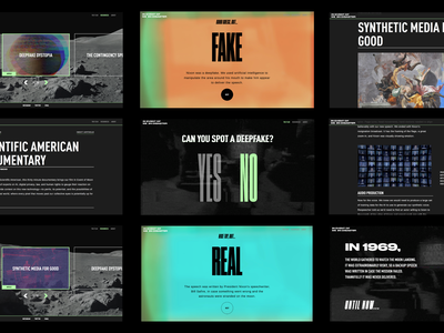 In Event of Moon Disaster storytelling ux web design