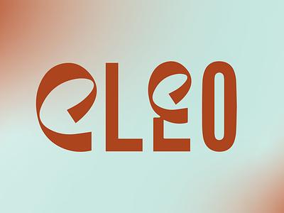 Cleo branding typography logo