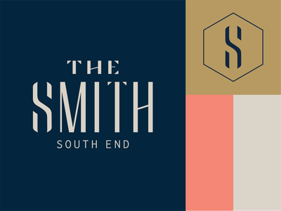 The Smith logo web design typography branding