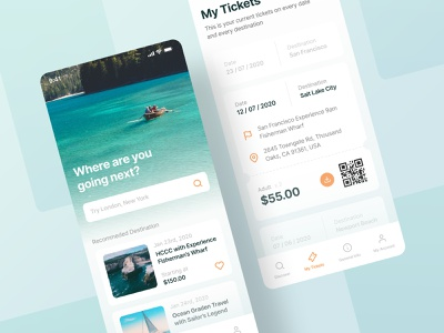 Hornblower App Exploration | Booking App Redesign white ticket design mobile hornblower ocean clean app booking user interface uidesign interface minimal ios ux ui