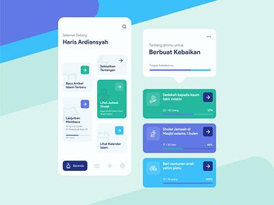 Jadibaik | Moslem App Exploration clean app design application mobile app trend minimal islamic moslem ui design design app android mobile user interface ux ui