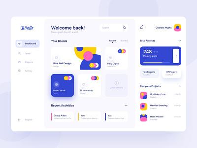 Trello Redesign | Dashboard app design digital app design white space minimalism clean web app user interface trello task management task manager dashboard web design website ui ux ux ui
