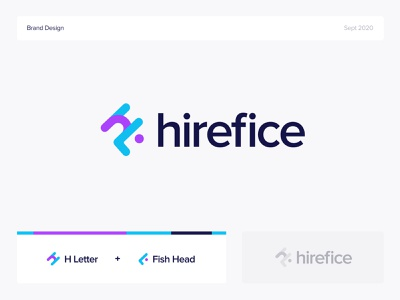 Hirefice | Logo Exploration guideline concept app graphic design creative logo visual identity hire logo logo design flat simple brand identity brand identity logo branding