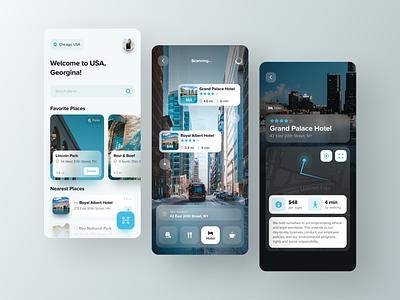 Taravel AR App   Freebies freebies travel augmented reality minimalism application ui design minimal design clean app app design user interface mobile ux ui