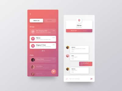 Chatting App Exploration user interface gradient interface app chatting mobile ux ui
