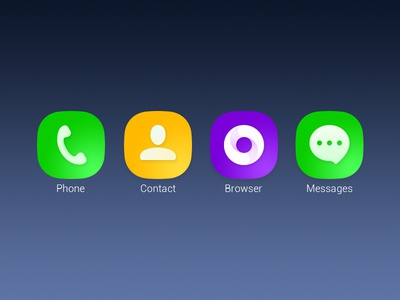 Icon contact icon yuhan ios8 browser radio messages theme phone