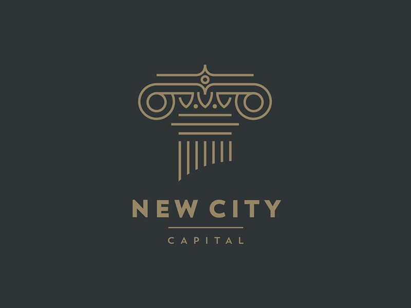 New City Capital fund logo investment branding illustration capital column financial