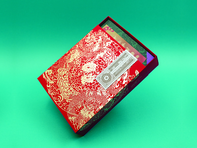 USPS Lunar New Year Boxed Edition letterpress foil packaging box stamps lunar new year