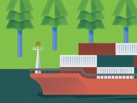 Cargo Ships & Paper Treez