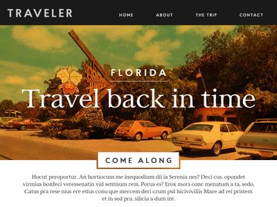 Daily UI 003 landing page experience explore florida travel ux ui dailyui 003