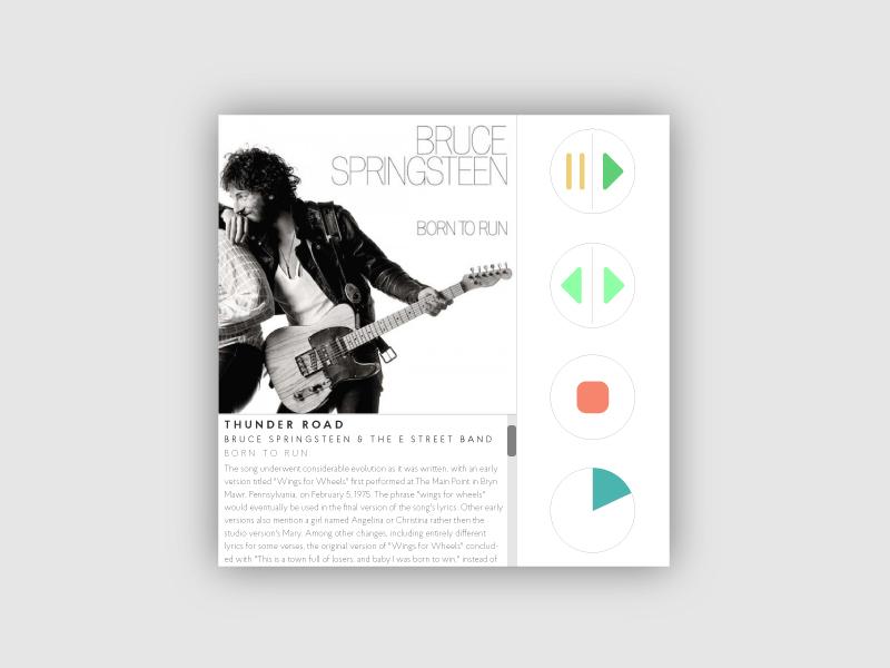 Daily UI 009 - Music Player  music player the boss album color ux ui music digital dailyui 009
