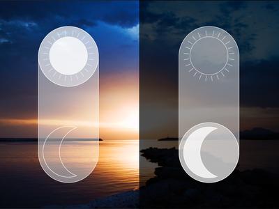 Daily UI 015 - On/Off Switch slider switch onoff ui ux nature sunset sunrise dailyui 015