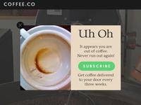 Daily UI 016 - Pop-Up / Overlay