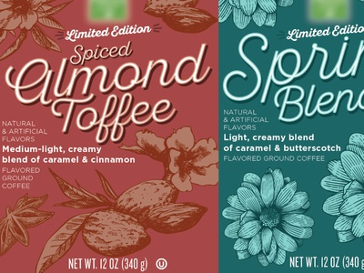 Flavored Coffee - Killed Concept packaging design illustration design label cpg coffee