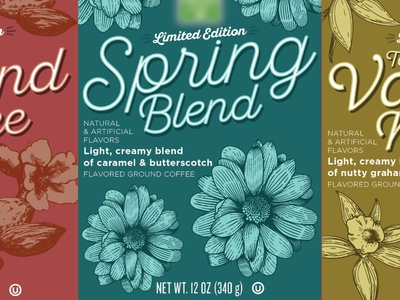 Coffee 2 packaging design illustration design label cpg coffee