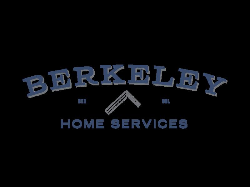 Berkeley Home Services Logo clean illustration type minimal lettering flat identity vector typography logo design branding