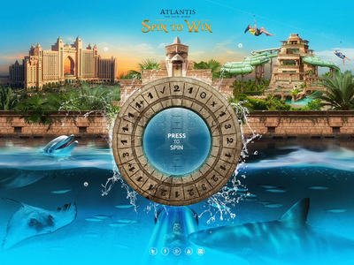 Atlantis The Palm Dubai / Promo Site splash water travel site promo hospitality luxury hotel uae dubai photoshop retouching photo graphic design web website design ui ux art direction