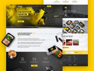 Fuel-Up Website restaurant meal prep ecommerce athlete fitness uae graphic design responsive webdesign food yellow sport website web ux ui site dubai design art direction